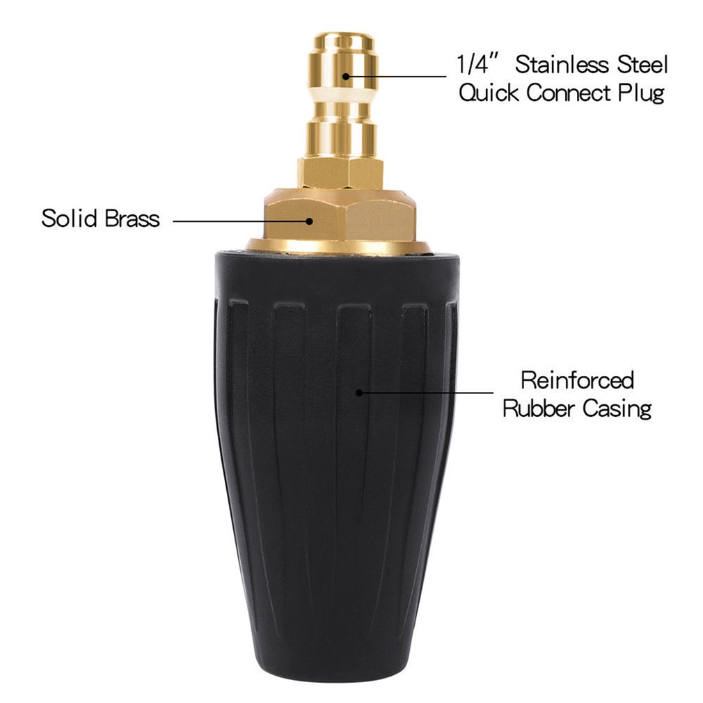 4000PSI Pressure Washer Turbo Nozzle Spray Tip 360 degree Rotating 1/4 inch Quick Connect Car Washer     - title=