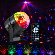 Luces de fiesta activadas por sonido con Control remoto iluminación de Dj, RBG Luz de bola de discoteca, lámpara estroboscópica 7 modos Luz de Par de escenario para el hogar