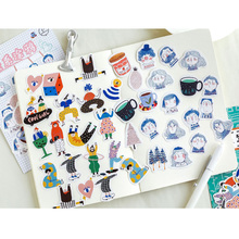 20packs/lot Paper Life With Bags Decoracion Journal Cute Diary Scrapbooking Sticker For School And Office Kawaii Stickers