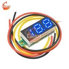 Mini voltmètre 0-0.28 V DC 100 pouces, testeur de tension à affichage numérique, réglage fin, tension DC 5V 12V 24V 36V 48V