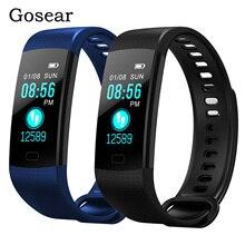 Gosear Y5 Bluetooth inteligentna bransoletka pulsometr monitor ciśnienia krwi Sport fitness track krokomierz kolorowy ekran inteligentna opaska