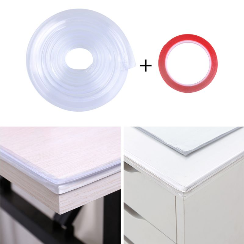 Infant Baby Safety Corner Protection Strip Guards 1m Transparent Table Edge Furniture Corner Protectors Soft PVC Bumper