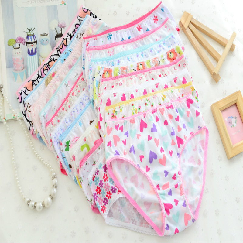 5Pcs Baby Kids  Underwear Girls Cotton Panties Girls Briefs 1-12 Years 4