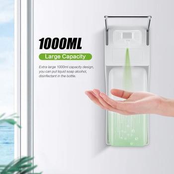 цена на 1000ml Soap Dispenser Elbow Disinfection Sanitizer Dispensers Wall Mounted Liquid Soap Wash Shampoo Soap Dispenser For Kitchen