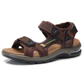 Brand Hot Sale Summer Fashion Beach Sandals Men Shoes Hollow High Quality Sandals Light Genuine Leather Comfort Sandals
