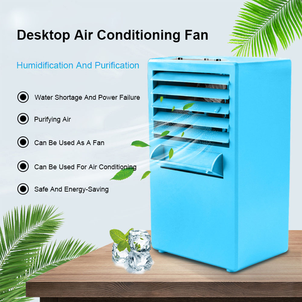 Air Conditioner Fan Personal Air Cooler Cooling Humidifier Purifier Air Cooling Fan USB Portable Air Cooler For Home Office Room