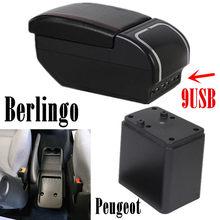 Reposabrazos Original para Citroen Berlingo, caja de doble capa recargable para Peugeot Partner 2014, accesorios para coche