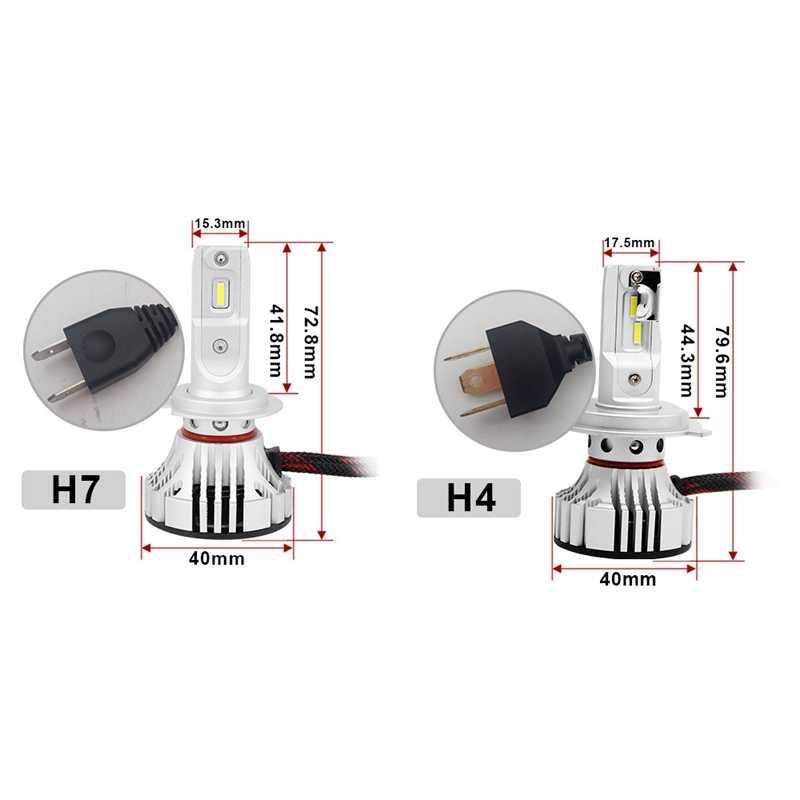 Nowy 2 sztuk F2 reflektor samochodowy Led 72W 12000Lm żarówka reflektor 6500K żarówki Led do reflektorów