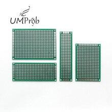 Печатная плата универсальная плата 5x7 4x6 3x7 2x8 см двухсторонний медный прототип печатной платы универсальная плата для arduino DIY KIT школа образование лаборатория
