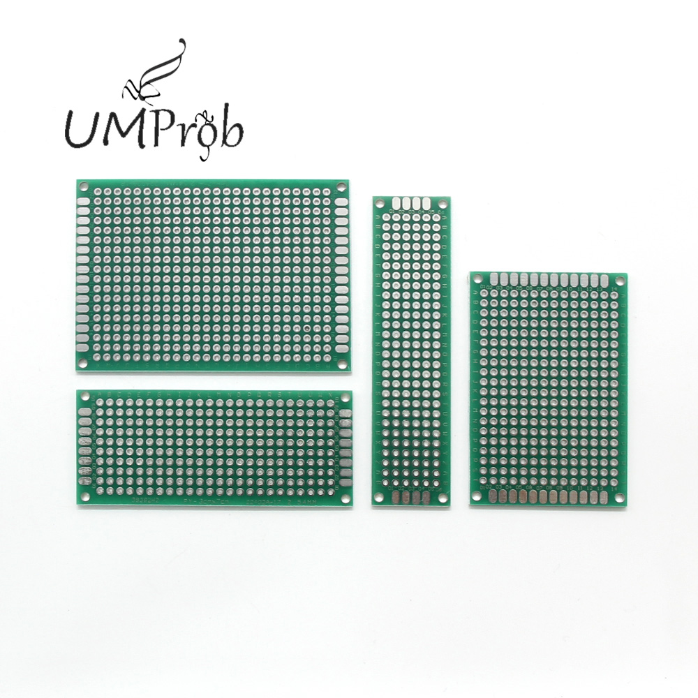PCB Universal Board 5x7 4x6 3x7 2x8 Cm Double Side Copper Prototype Pcb Universal Board For Arduino DIY KIT School Education Lab
