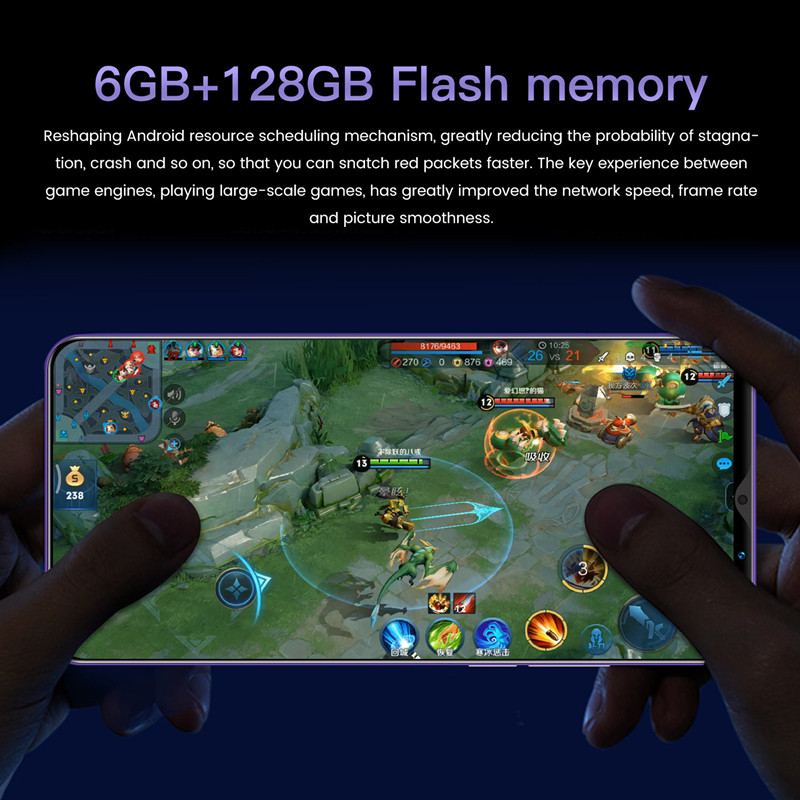 2021 Smart Phone Global Version Xiomi Note 9 Pro Smartphones 6GB 128GB 4800mAh Battery 4G 5G Network Mobile Phones Android 10 2