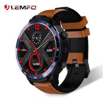 LEMFO LEM12 2020 Neueste Gesicht ID 1,6 Zoll Dual Kamera LTE 4G Smart Uhr Android 7,1 3GB 32GB 1800mah Batterie Männer Smartwatch