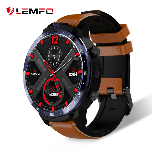 $ US $129.99 LEMFO LEM12 2020 Newest Face ID 1.6 Inch Dual Camera LTE 4G Smart Watch Android 7.1 3GB 32GB 1800mah Battery Men Smartwatch