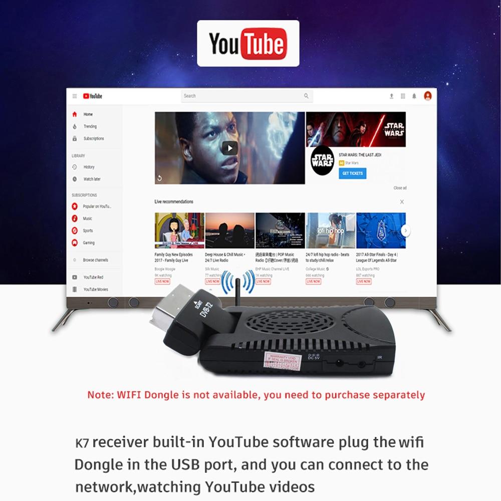 DVB-T2 H265 Scart TV Tuner Box Digital Terrestrial Receptor WIFI Receiver Youtube Set Top Box 1080P IPTV Box 15