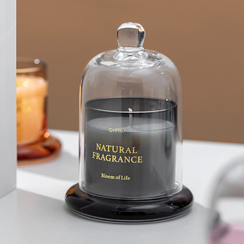 1PC High-End Aromatherapy  Smokeless Glass Scented Candle Bell Jar  5