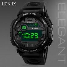 OTOKY Relógios Dos Homens Digital LED relógio de Luxo Data Relógio Dos Homens Do Esporte Ao Ar Livre Relógio Eletrônico de alarme Pulseira de Resina relógio relógio à prova d' água