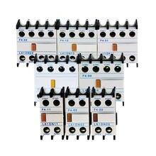1 sztuk AC stycznik CJX2 LA1-DN22 LA1-DN11 blok styków pomocniczych przełącznik F4-22 F4-13 F4-31 F4-40 F4-04 F4-11 F4-02 F4-20 4 bieguny