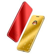 Ультратонкий металлический корпус Ulcool V99 V66A роскошный супер мини кредитный мобильный телефон Bluetooth Dialer Dual SIM PK V36