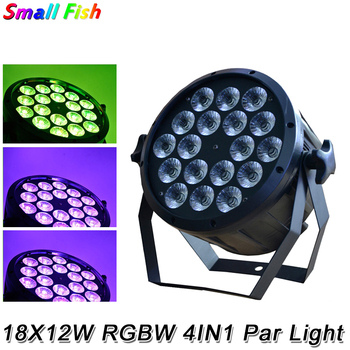 2020 18x12W RGBW 4in1 LED Flat Plastic Par Light DJ Disco Lamp Stage Effect Lighting DMX 512 Control Mini Beam Par light Party 12pcs illusion plastic par light rgbw 4in1 disco wash light equipment 8 channels dmx 512 led effect stage dj party lighting