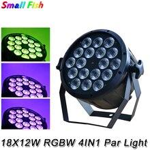 2020 18x12W RGBW 4w1 LED płaskie plastikowe lampa Par DJ Disco lampa efekt sceniczny oświetlenie DMX 512 kontrola miniwiązka lampa Par Party