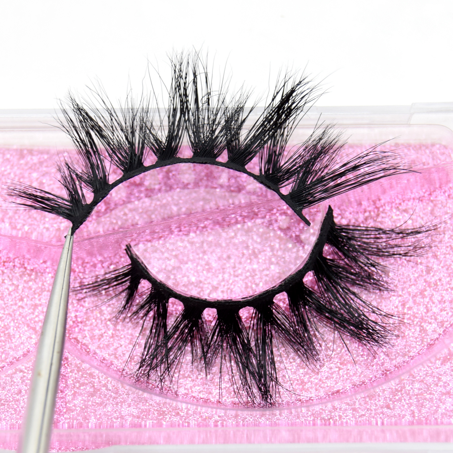 Visofree 5D Mink Eyelashes Handmade Full Strip Lashes Cruelty Free Luxury Makeup Dramatic Mink Lashes Crisscross Eye Lashes K03