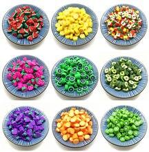 30 pçs/lote 10mm Frutas Contas Polymer Clay Beads Misto de Cor Polymer Clay Spacer Beads Para Fazer Jóias DIY Pulseira colar