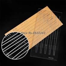 1 pçs fita plana medida slingshot cônico plana borracha banda de corte modelo 3mm espessura trapezoidal ferramenta