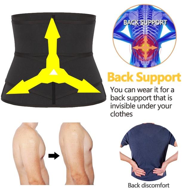 Mens Waist Trainer Modeling Belt Belly Slimming Body Shaper Tummy Control Weight Loss Shapewear Promote Sweat Trimmer Belt 3