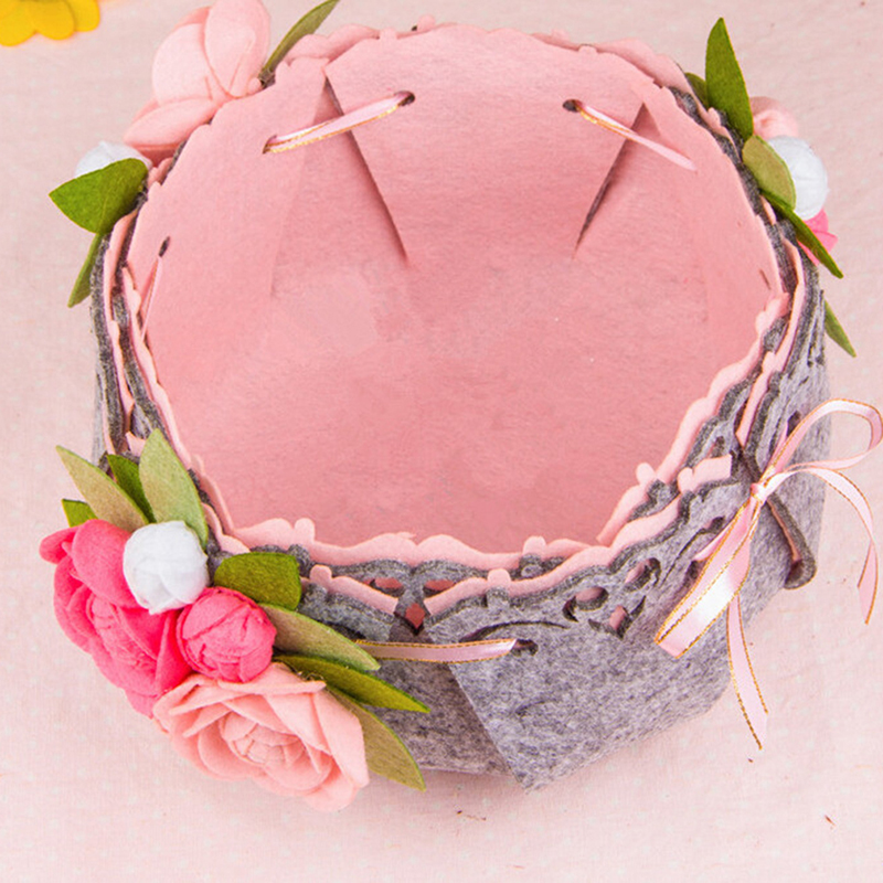 Cloth Craft DIY Package Storage Basket Sewing Kit Felt Handwork Material Pack Used To Put Sundries