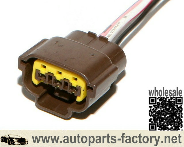 Longyue 10pcs  Ignition Coil Connector Plug Harness  For RB20 / RB25 S1 / RB26 / R32 Brown For Nissan Skyline