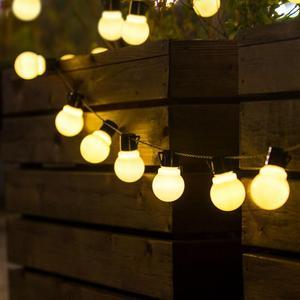 2.5M 5M LED String Light Outdoor Fairy Lights Garland Globle Bulbs Garden Patio Wedding Christmas Decoration Light Chain Lamp