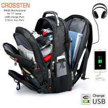 Waterproof Laptop Backpack Mochila Schoolbag Port Swiss Multifunctional Large-Capacity