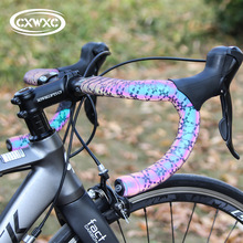 2020 New Bicycle Handlebar Tape Light Reflective Bike Bar Tape Road Bike Tape Wrap PU+EVA Cycling Handlebar Tapes Accessories