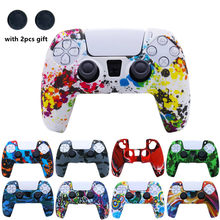 Soft Silicone Gel Rubber Cover Case For Playstation 5 PS5 Controller Protection Skin Anti-slip For Sony PS 5 Gamepad case
