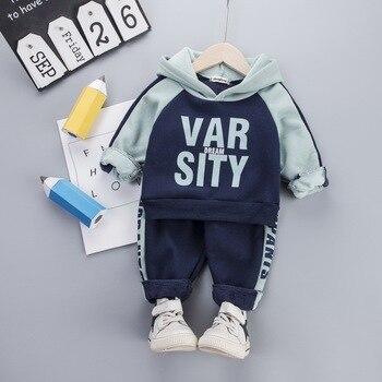 Boys clothes sets autumn winter kids fashion thick velve hoodies+pants 2pcs tracksuits for baby boys children jogging suits girl