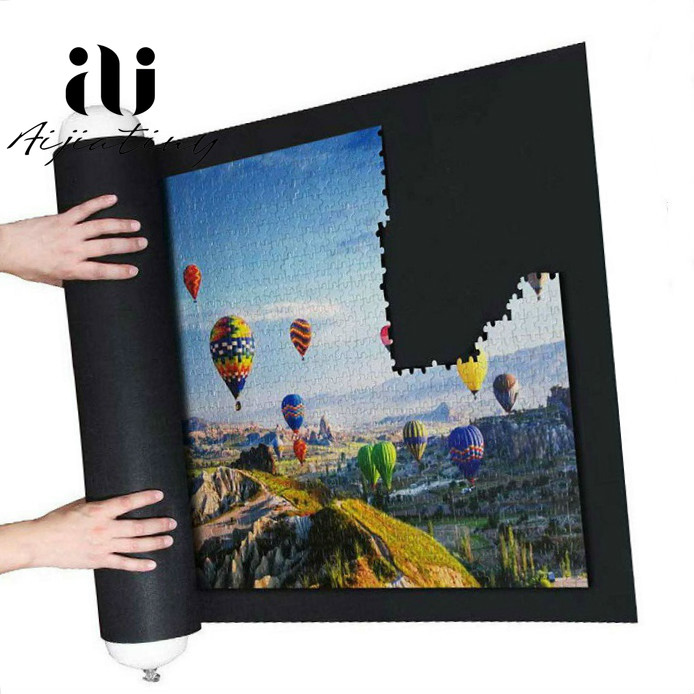 Puzzle Accessories Toy Portable Travel Storage Bag Puzzle Storage Roll Up Mat Jigsaw Roll Felt Mat Play Mat For Up 1500 Pieces