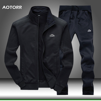 Men Tracksuit Set Polyester Sweatshirt 2020 Spring Sporting   1