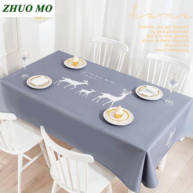New Christmas Tablecloth New Year Decoration Cartoon Cloth Kitchen