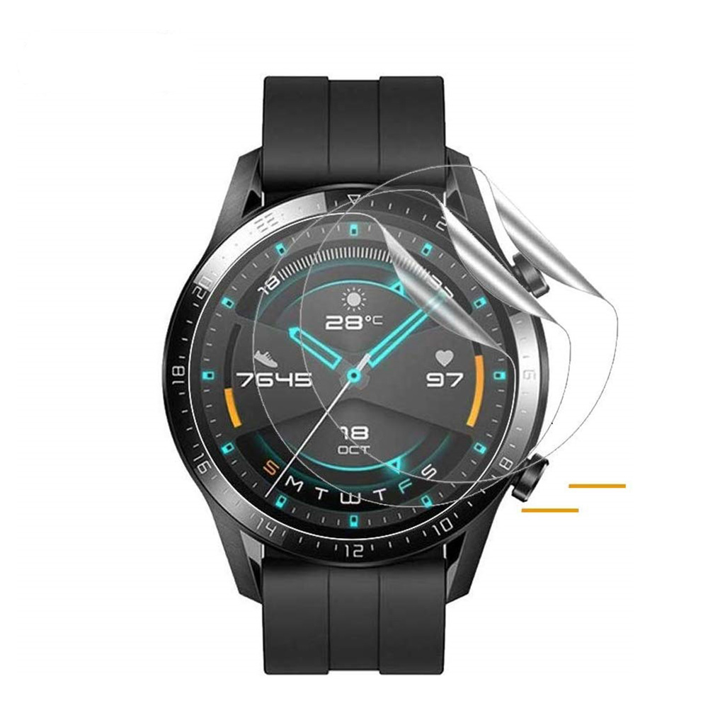 1/3PC TPU Hydrogel Soft Transparent Screen Protection Film For Huawei GT /GT2 46mm Smart Watch Protective Accessories GT2