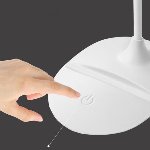 mini lampada de mesa dobravel led aprendizagem