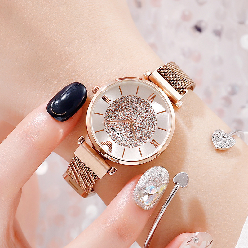 Luxury Diamond Women Watches 2019 Rose Gold Magnetic Ladies Wrist Watches For Women Bracelet Watch Female Clock Relogio Feminino