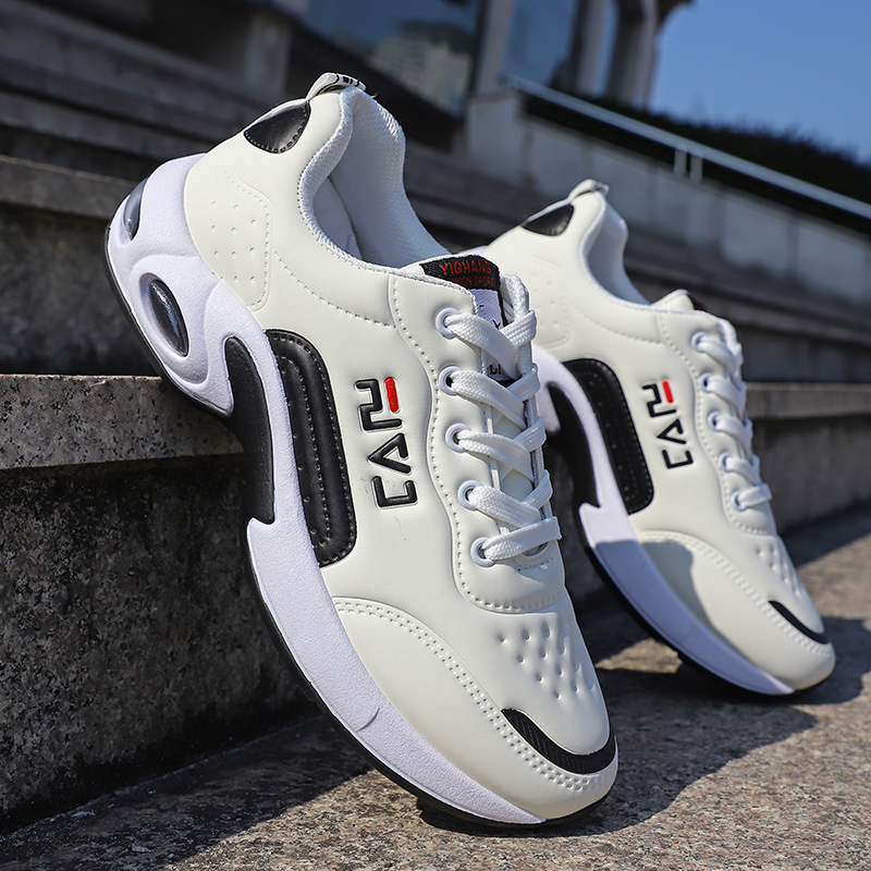 2020 Fashion Sneakers Shoes Men White Air Cushion Casual Shoes Spring Hot Sale Men's Sneakers Leather Tenis Masculino