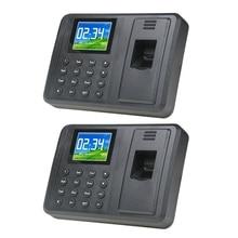 Fingerprint Time Attendance Machine Intelligent Biometric Fingerprint Clock Recorder Employee Recording Device
