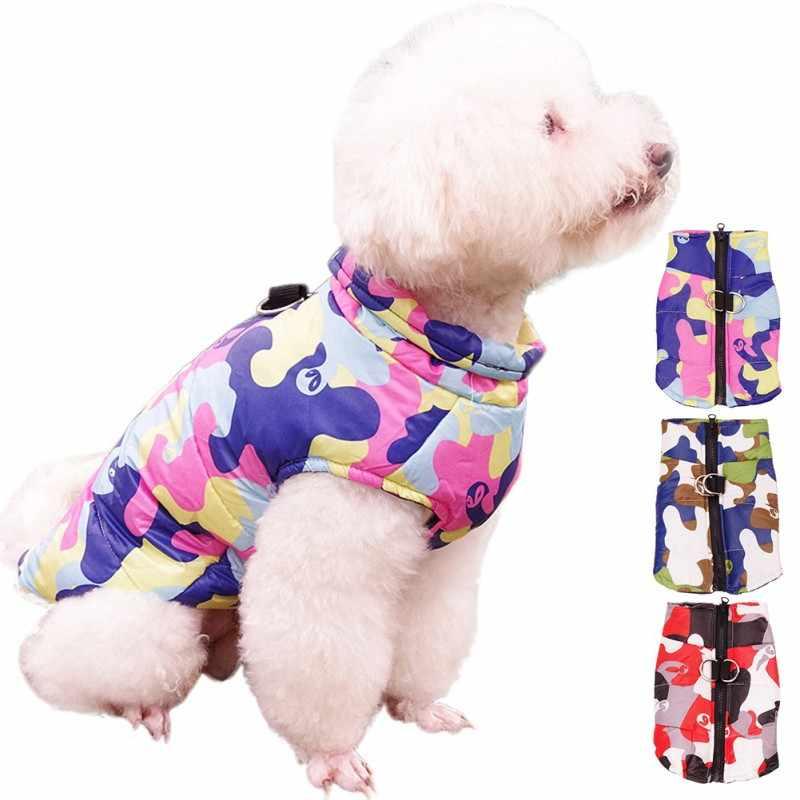Высококачественный зимний лыжный костюм для домашних животных Камуфляжный пуховик для собак большой размер жилет для собак хлопковое пальто для Одежда для домашних животных одежда s-xxl