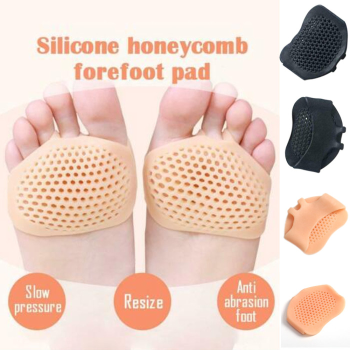 Insoles Silicone Invisible Honeycomb Hollow Design Forefoot Pad Reusable Foot Pain Relief Pads Breathable Light Feet Cushions