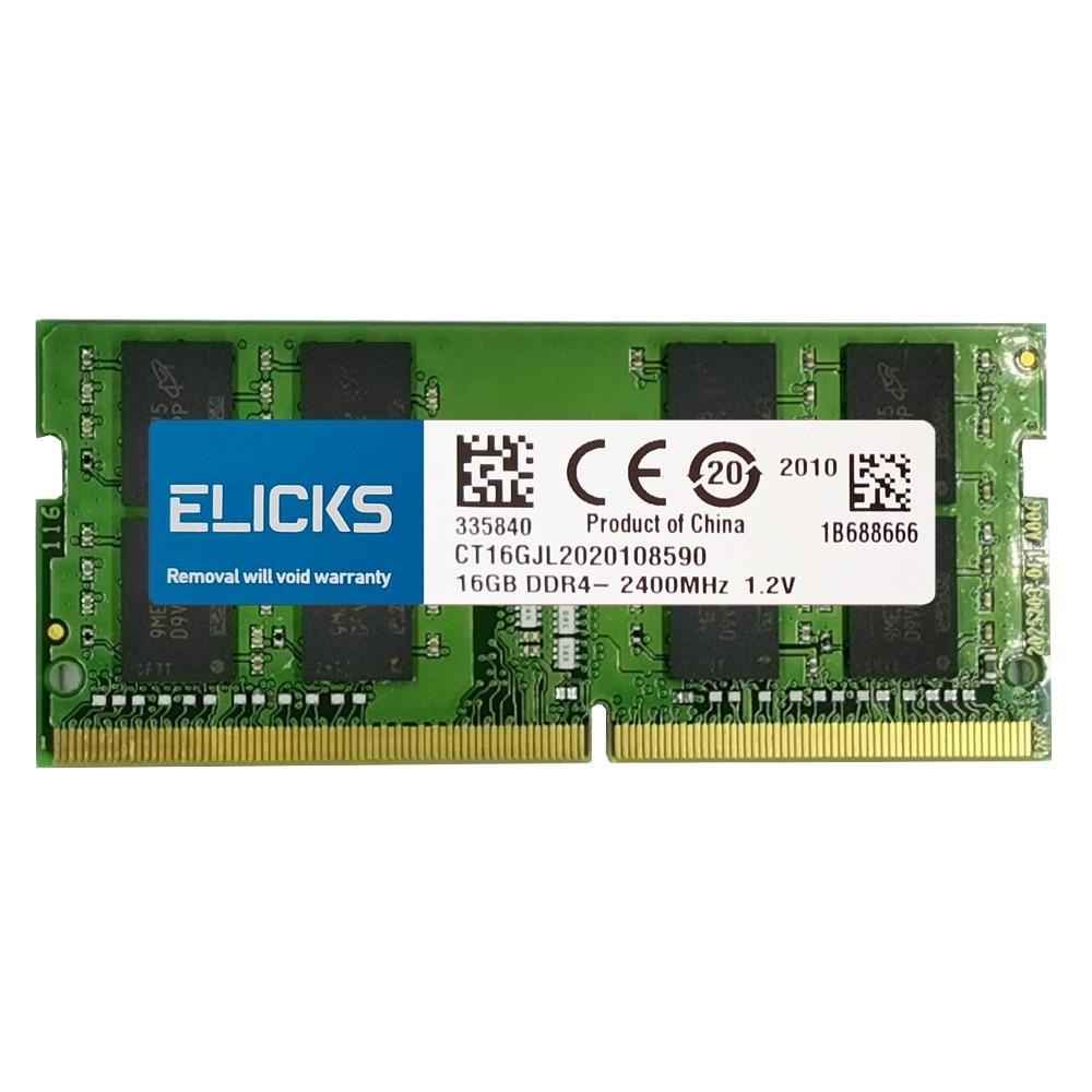 ELICKS 1GB 2GB 4GB 8GB DDR2 DDR3 RAM DDR4 RAM Notebook Laptop memories 533 667 800 1066 1333 1600 1866 2133 2400 2666MHz 6