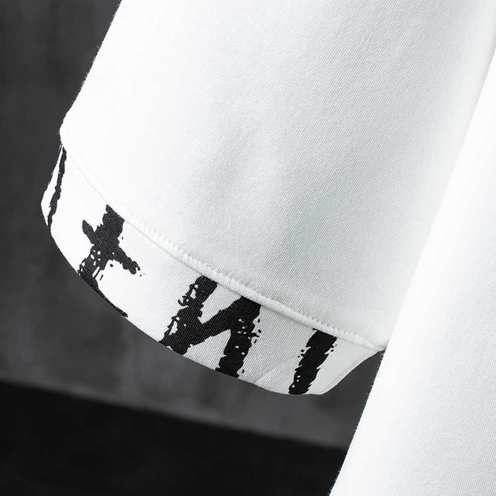 Baru 2020 huruf T-shirt Cetak Kapas Musim Panas Pendek Lengan O-Leher TEE Pria Kemeja Fashion
