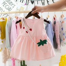 Girl Dress New Baby Dresses Pattern Print Cartoon Birthday Female Summer Clothes Kids