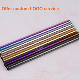 Image 2 - 100 Pcs Patterned Wholesale Metal Straw Colorful Reusable Stainless Steel Straw E co Friendly Portable Drinking Tubes For 20/30