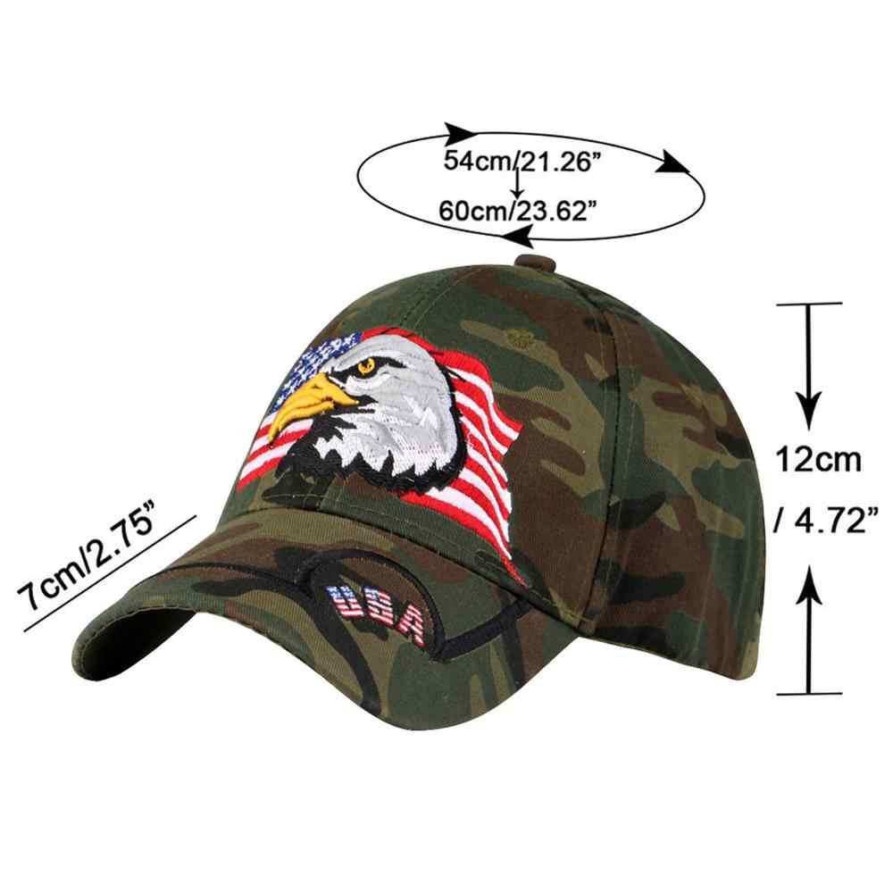 Gorra de béisbol de camuflaje para hombres ajustable USA Falgs mujer sombrero América divertida gorra de Mirlo visor deportivo protector solar mujer Snapback